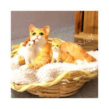 Dolls House Pet - Cat and Kittens Set - Ginger