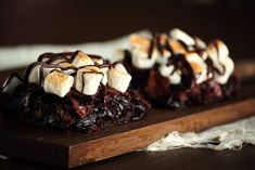 Made - Campfire S'mores Brownies.  Very tasty!  Extremely rich, so cut into small bars, turn the broiler heat up higher to get a better toast on marshmallows, I would like to experiment with milk chocolate next time.
