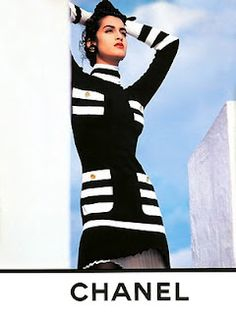 YASMEEN GHAURI,  Chanel Ad ~ 1990