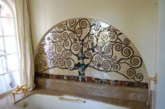"""Tree of Life"" Stained Glass Mosaic - All Cracked Up Mosaics - allcrackeduppmosaics.com"