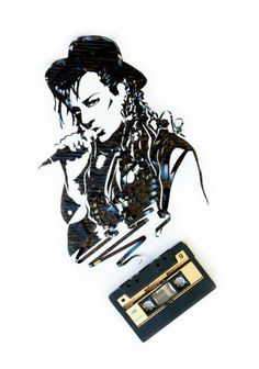 This cassette tape art is inspirational upcycling! They are the work of Atlanta based artist Erika Iris Simmons. Erika makes incredible upcycled art. Cassette Tape Crafts, Cassette Tape Art, Vhs Tapes, Tape Wall Art, Ghost In The Machine, Cardboard Sculpture, Quick Crafts, Sculpture Projects, Found Art