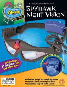 e1e617b156a50 POOF-Slinky 15000 Scientific Explorer Spyhawk Night Vision Goggles with  Listening Device