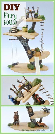 Wie man ein Spielzeugbaumhaus mit einfachen Werkzeugen und natürlichen M ... #einfachen #naturlichen #spielzeugbaumhaus #werkzeugen