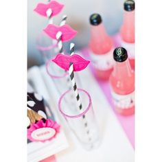 Lips Straw Toppers Photo Booth Prop - Parisian Party Printables - Instant Download