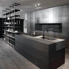 Modern Kitchen Interior - A contemporary kitchen design means different thing to different people. For some it is a clean bold look, for others […] Contemporary Kitchen Design, Modern House Design, Interior Design Kitchen, Modern Interior Design, Modern Contemporary, Kitchen Designs, Room Interior, Minimalist Kitchen, Minimalist Decor