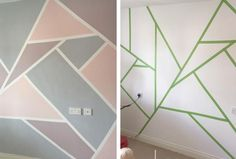 Easy DIY Room Decor Ideas to Decorating Your Home 21 Diy Room Decor Geometric Pattern Easy Diy Room Decor, Home Decor Bedroom, Bedroom Red, Decor Room, Diy Home Decor For Apartments, Geometric Decor, Shutterfly, Decorating Your Home, Decorating Ideas