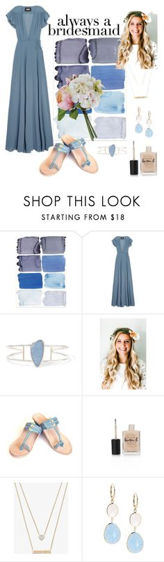 """""""Always a bridesmaid..."""" by liahayes ❤ liked on Polyvore featuring Reformation, Melissa Joy Manning, Emily Rose Flower Crowns, Lauren B. Beauty, Michael Kors and Saks Fifth Avenue"""