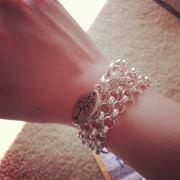 Silver Rolo as bracelet...genius!!