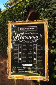 Beautiful Extra Large Seating Chart -- Mirror in Vintage Frame -- Perfect for Weddings!