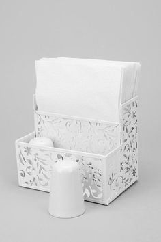 Floral Cutout Napkin Holder- My Grandmother had something so similar to this and that nostalgia makes me think that I have to have this.