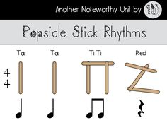 Teach your students 4/4 time with Popsicle Stick Rhythms. Students will learn to clap quarter notes, eighth notes and quarter rests before creating their own 4 beat bar creations with their own popsicle sticks. Includes an interactive power points lesson and partnered activity.