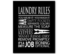 Laundry Wall Art laundry cheat sheet - 11 x 14 laundry wall art - print with