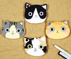 #cat #note Cute Notebooks, Booklet, Cute Animals, Funny Quotes, Cartoon, Cats, Collection, Pretty Animals, Funny Phrases