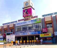 The glorious city railway station plastered with adverts in Coimbatore Coimbatore, Wallpapers, City, Building, Beautiful, Wallpaper, Buildings, Tapestries, City Drawing