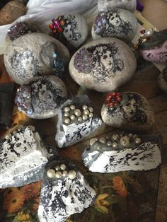 cherry stones - for Mencap Xmas Fayre