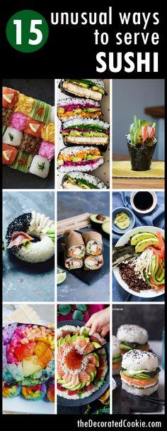 15 unusual ways to serve sushi
