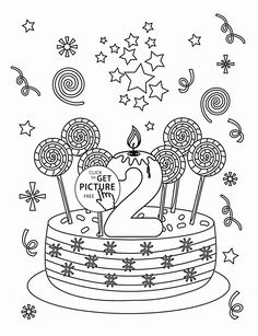 Happy 2nd Birthday Coloring Page For Kids Holiday Pages Printables Free