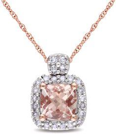 Diamond / morganite / 10k pink gold