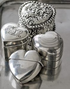 "Antique Silver Ring Boxes  ....so long ago ""Will you marry me?"""