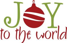 Vinyl Wall Decal  -  Christmas (JOY to the world ...)