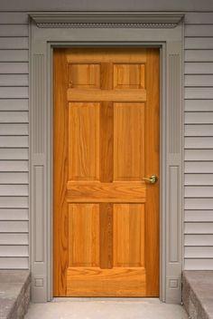 Hemlock Veneer 6 Panel entry door with Schlage Flair lever x 505. & Custom Quartersawn White Oak Craftsman Style 2 panel/6 lite exterior ...