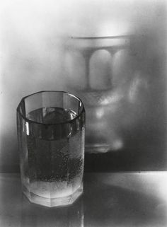 JOSEF SUDEK,  Still life (glass and reflection). Silver print, c.1952