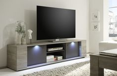 Sidney Collection Large TV Unit with LED Spotlights (TV & media unit)