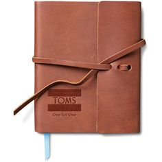 TOMS Saddle Brown Travel Journal ($30) ❤ liked on Polyvore featuring home, home decor, stationery, books, fillers, accessories, journal and notebooks