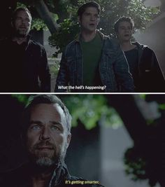 "Teen Wolf Season 5B Episode 17 ""A Credible Threat"" Scott McCall, Stiles Stilinski and Chris Argent"