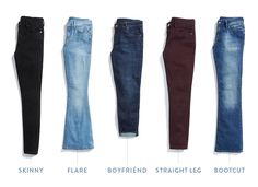 I prefer boyfriend or skinny STYLE, but They have to be bigger in waist and thin through hips and thighs because I have no tush.