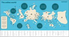 Our World according to the number of registered domains @Nominet #Infographic