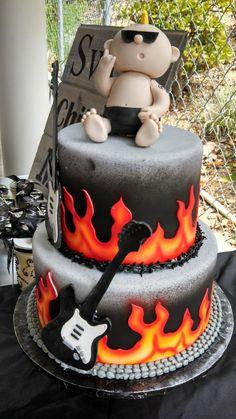 24 trendy Ideas baby shower twins cake first birthdays Fondant Cookies, Cupcake Cakes, Cupcakes, Torta Baby Shower, Baby Boy Shower, Rock Baby Showers, Music Baby Showers, Cake Pops, Rockabilly Baby