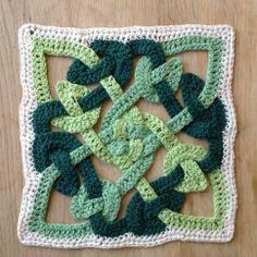 Crochet Celtic Knot motif.   Free crochet pattern at http://suviscrochet.blogspot.com