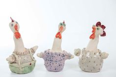 Check out this item in my Etsy shop https://www.etsy.com/il-en/listing/474076431/3-ceramic-hen-wall-decor-chicken