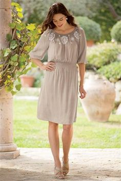 Needs a wide brown belt - Amelie-Embroidered-Peasant-Dress-From-Isabella-Bird