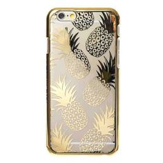 iPhone 6 Gold Pineapple Case ❤ liked on Polyvore