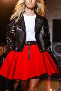 la modella mafia Fausto Puglisi Spring 2014 red, white and black trend