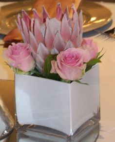 White tank vases for the little extras on your table