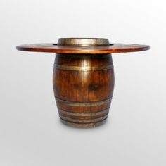 Wine barrel table Man Cave Table, Man Cave Home Bar, Wine Barrel Furniture, Patio Furniture Sets, Furniture Ideas, Furniture Design, Custom Furniture, Wine Barrel Table, Wine Barrels