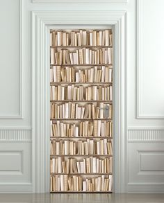 Door sticker red entrance house enter mural decoleposter by pulaton door sticker books ivory library cabinet strapper box mural decole film self adhesive poster 30x79 planetlyrics Image collections