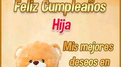 Tarjetas Gifs de Cumpleaños Hija Gifs, Winnie The Pooh, Disney Characters, Fictional Characters, Teddy Bear, Birthday Captions, Birthday Msgs, One Year Birthday, Cards
