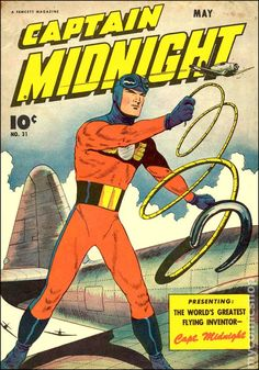 "Captain Midnight in ""Java Justice,"" ""Sergeant Twilight's Flying School,"" and ""Captain Midnight and the Pan-American Railroad!"" Description from mycomicshop.com. I searched for this on bing.com/images"