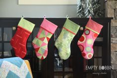 Time to start sewing for Christmas with this pattern by Empty Bobbin