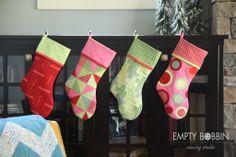 stocking pattern, sewing a stocking, christmas stocking pattern, quilted christmas stocking