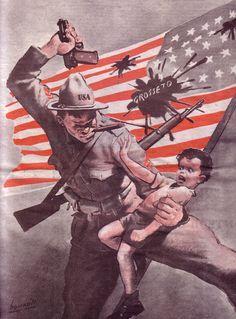 Luigi (detto Gino) Boccasile (Bari, 14 luglio 1901 – Milano, 10 maggio 1952) - propaganda   #TuscanyAgriturismoGiratola