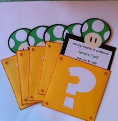 FREE Printable Super Mario Bros. Birthday Party Invitation