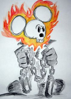 Mickey Mouse as the Ghostrider