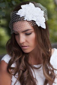 FLORENCE beaded bridal headpiece by Tania Maras Bridal - Haley Renee Photography
