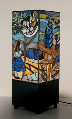 """Stained glass lamp """"Alice in wonderland"""""""