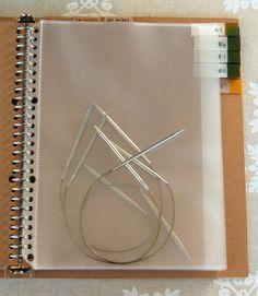 Great way to organize circular knitting needles!